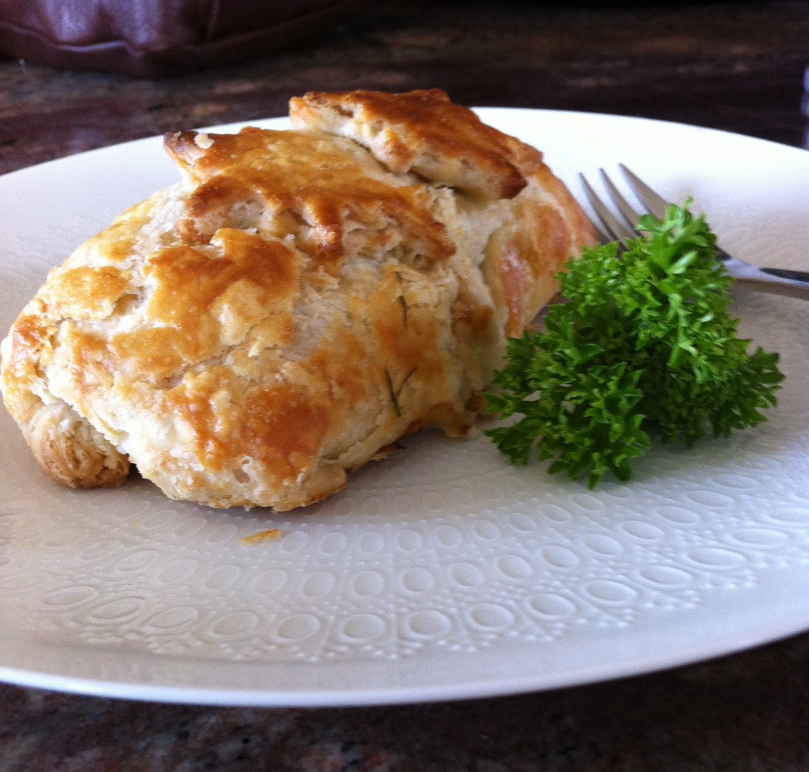 Recipe Title: Salmon Wellington With Light Yogurt Hollandaise (click Here  To Go Directly To