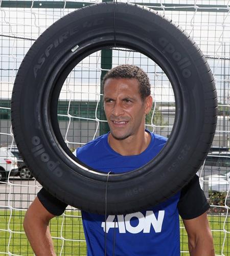 Rio Ferdinand with deals Apollo Sponsor Manchester United 2013