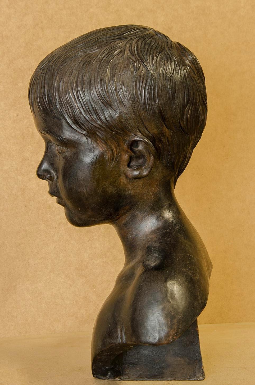Retrato escultura barro cocido 4