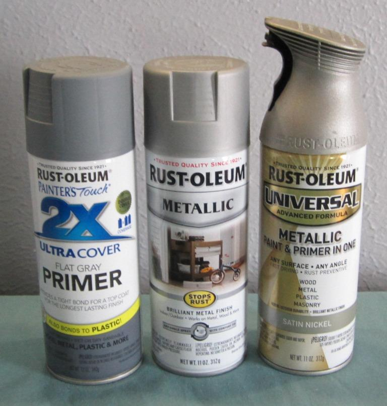 how to paint brushed nickel finish