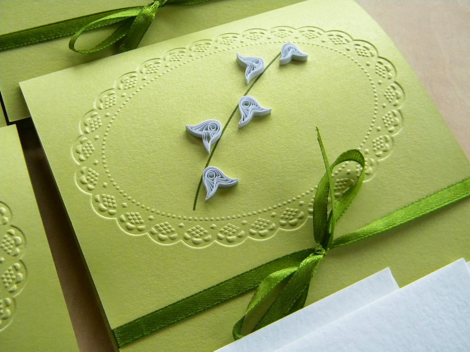 Invitații de nuntă personalizate: Lily of the Valley wedding ...