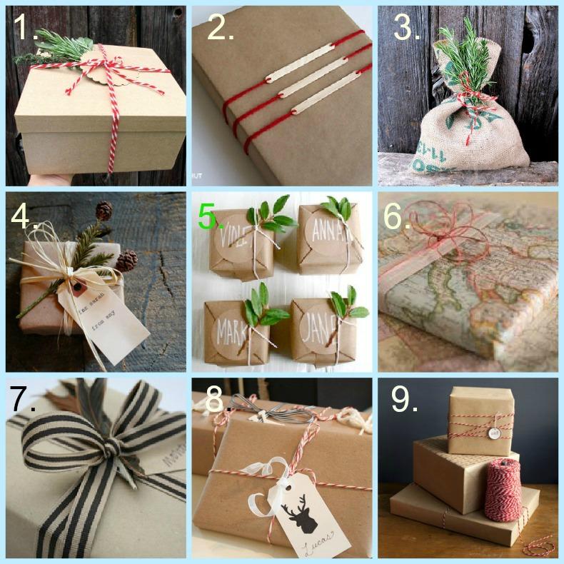 coastal gift wrap ideas