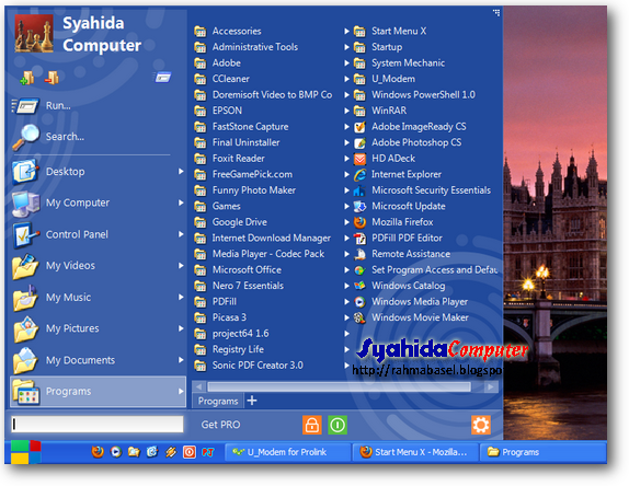Start Menu X | merubah start menu windows 7 dan windows 8 menjadi start menu classic
