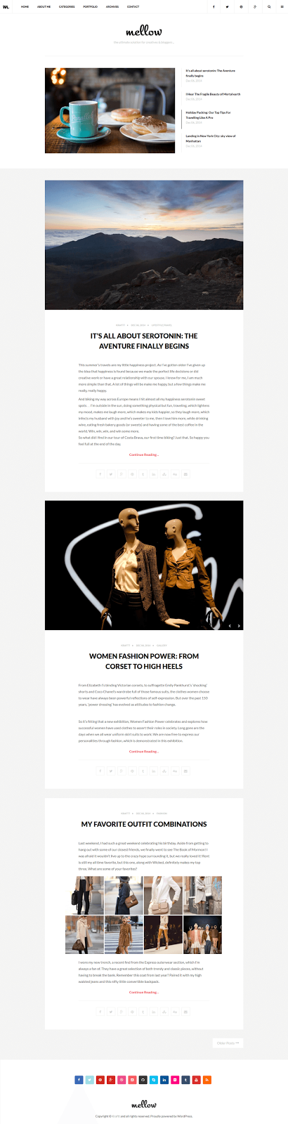 Responsive WordPress Blog Theme 2015