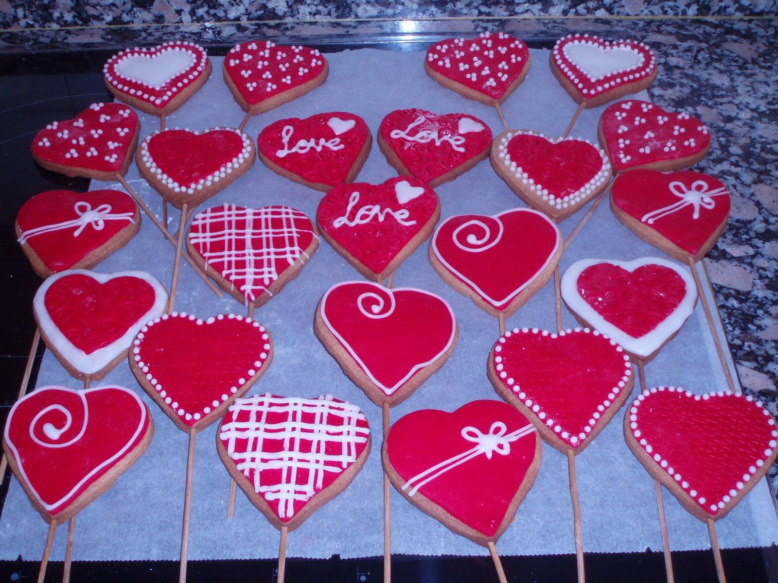 Decoraciones galletas masmelos san valentin galletas en - Dulces de san valentin ...