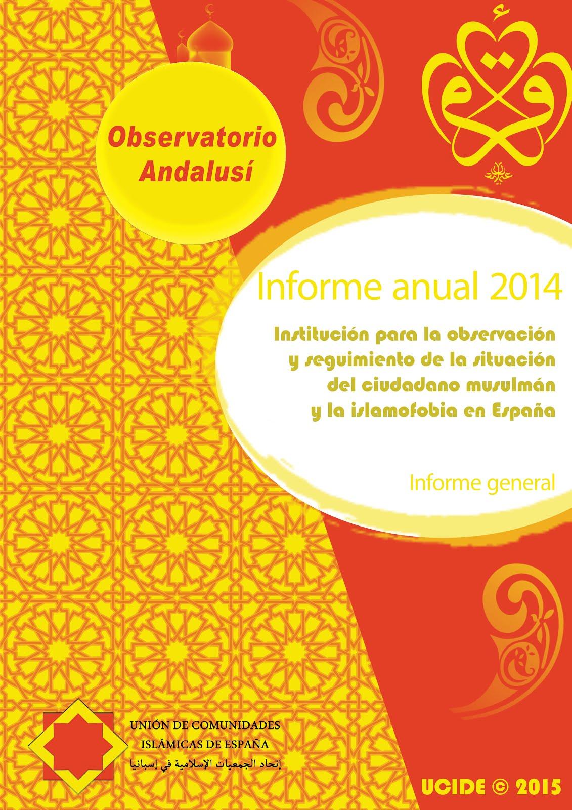 Informe anual de 2014 del Observatorio Andalusí
