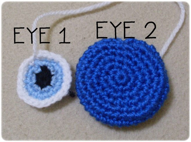 Free Amigurumi Crochet Patterns Dragon : :: Ahmaymet Amigurumi ::: Evil Eye : Sign of luck Free pattern