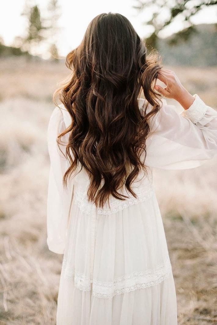 novia pelo suelto