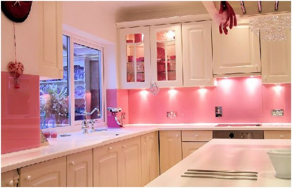 Dise o de cocinas rosas - Cocinas acogedoras ...