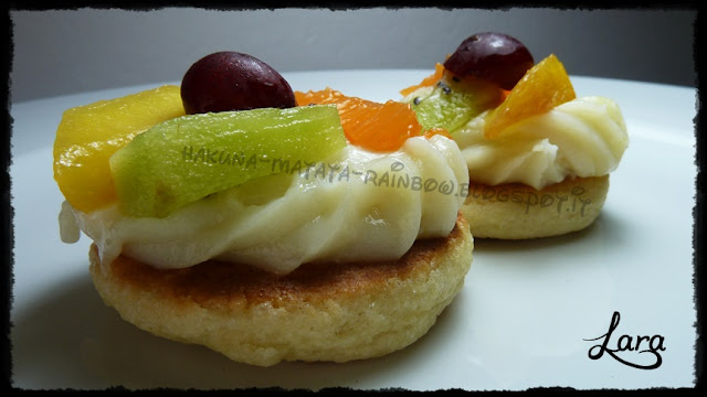 tortine di frutta con frolla senza burro cotta in padella e crema senza uova