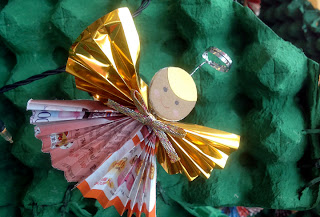 Paper Craft Angel Christmas Tree Ornament