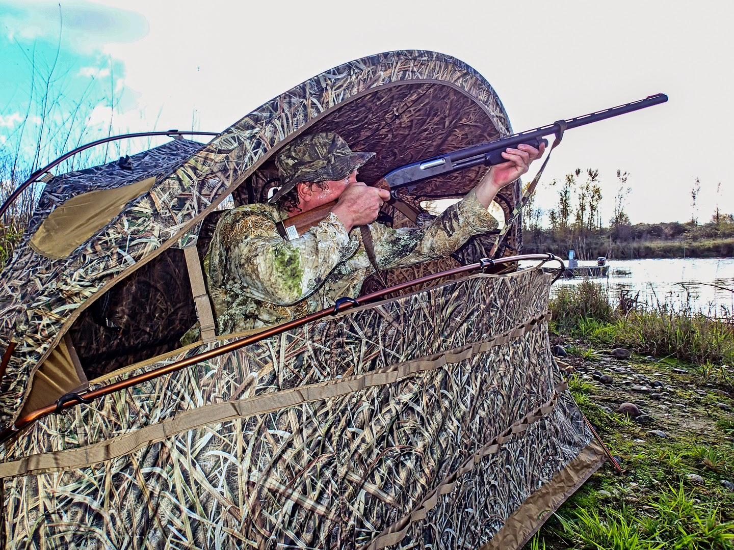 by ground blind detail duck fleet camosystems portable at farm blinds