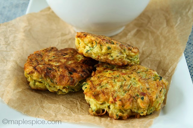 Zucchini Bhaji - vegan and gluten-free!