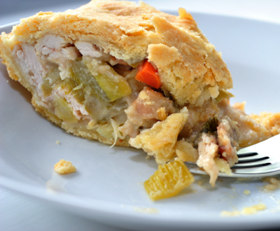 Turkey, Leek, and Bacon Pot Pie