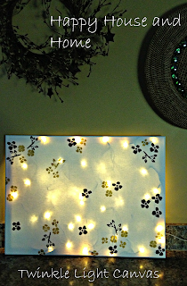 DIY, Twinkle Lights, DIY Canvas, Twinkle Light Canvas