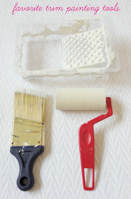 How To Paint Trim: a complete tutorial for transforming an outdated house just by using paint!