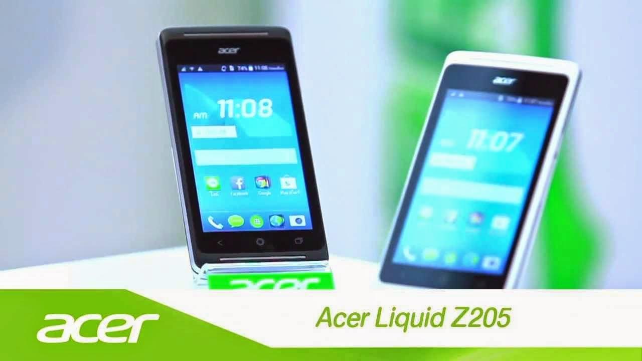 Acer Liquid Z205, Spesifikasi HP OS Android KitKat RAM 1 GB Harga 800 Ribu