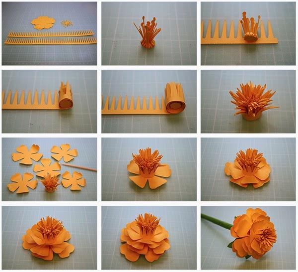 Делать цветы из бумаги пошагово