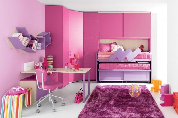 Dormitorios para hermanas en rosa dormitorios con estilo - Modelos de dormitorios juveniles ...