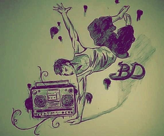 Break dance dibujo - Imagui