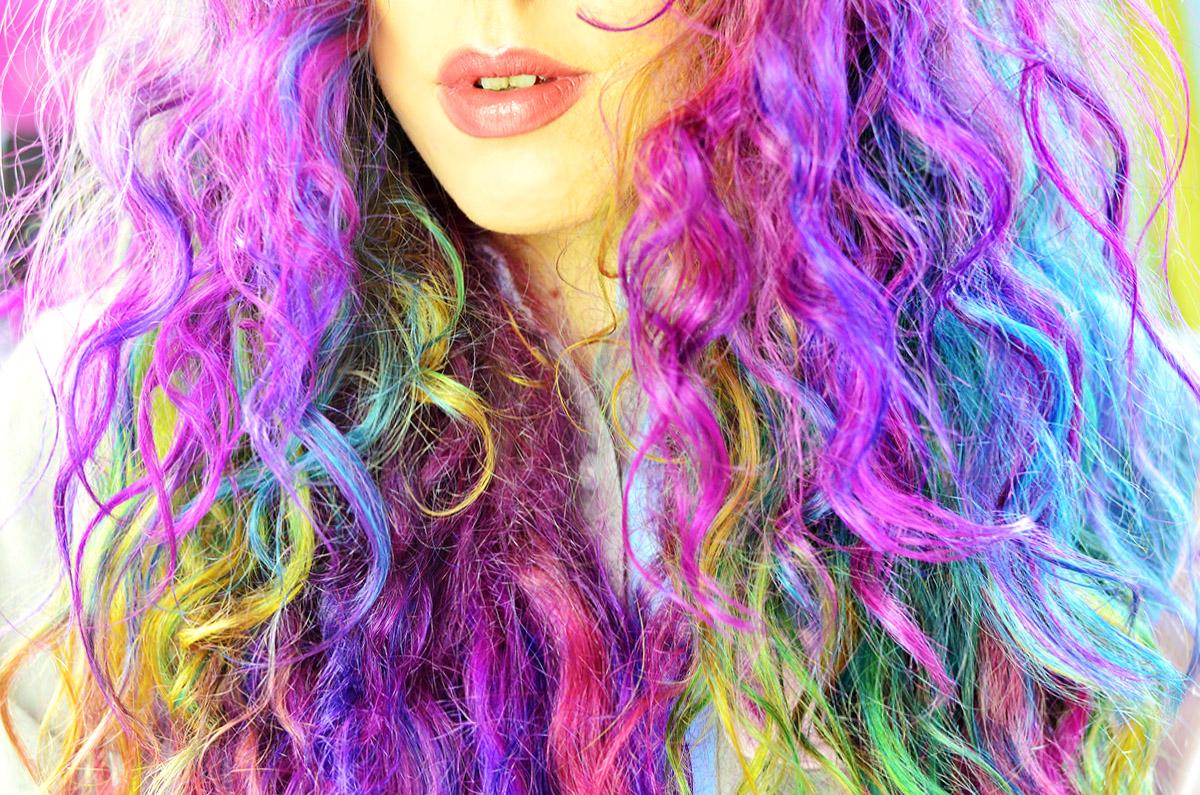 How to Get Sand Art Rainbow Hair by Stephi LaReine