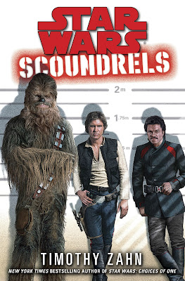 Chewbacca, Han and Lando in a police lineup on a book cover