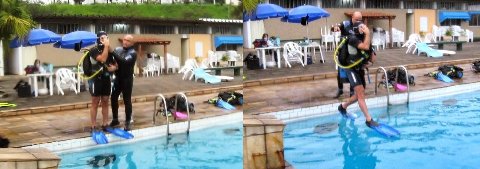 Curso de mergulho 2 etapa piscina funda escola de for Funda piscina redonda