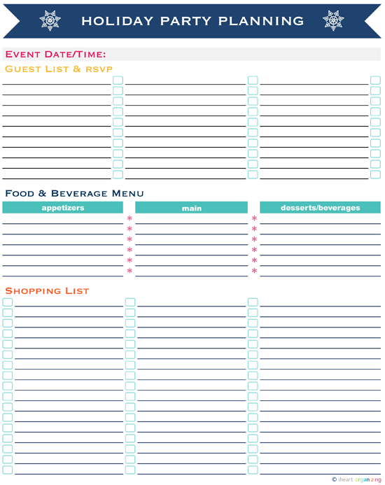 Party Planning Template Images - Reverse Search