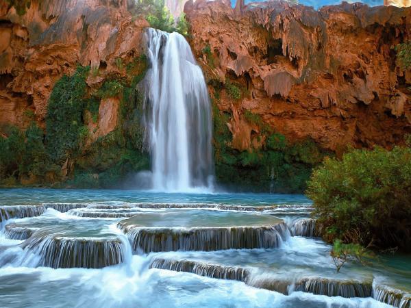Foto Te Vecanta - Faqe 2 Most-beautiful-waterfalls-in-the-world-havasu-waterfalls