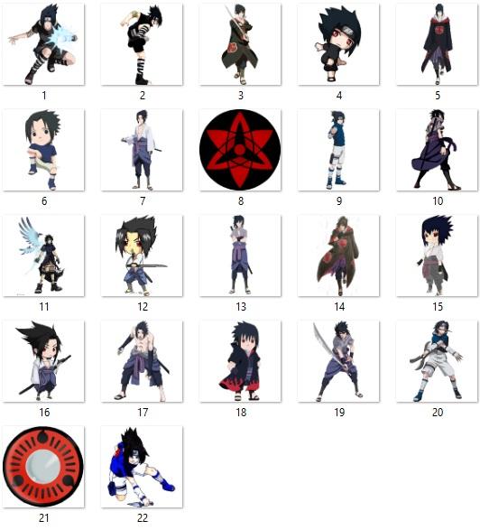 Sasuke Uchiha Naruto Desktop Icon