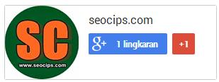 Cara memasang Fanspage Google Plus Blog