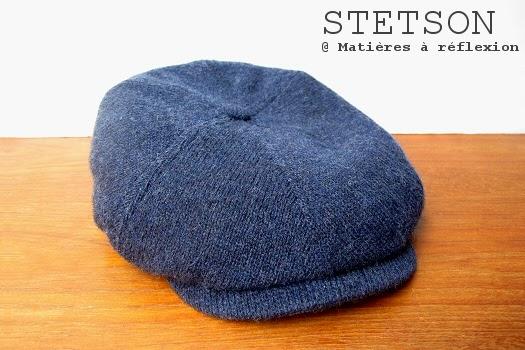 Casquette homme Stetson bleu Brooklyn en laine