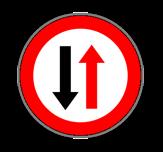 Señal R5 - Prioridad del Sentido Contrario
