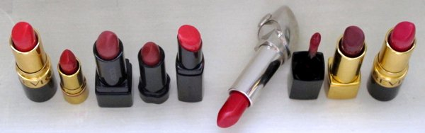 Lipstick swatch Revlon Fire&Ice Fire Ice Cherries In the Snow Besame Red Hot Red Addiction Last Scene Shiseido Dragon Perfect Rouge Suqqu Creamy Glow 18 Karakurenai Guerlain Rouge G Garconne Chanel Laque Dragon Rouge Allure Fatale