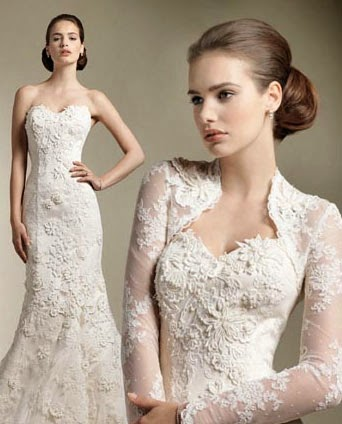 gaun pengantin modern putih