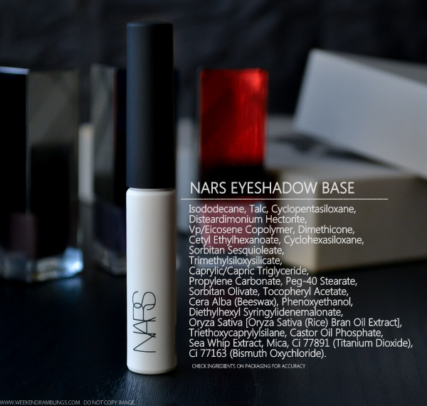 NARS Pro Prime Eyeshadow Base Smudgeproof Makeup Primer Indian Beauty Blog Review Ingredients