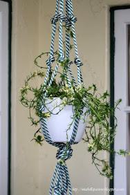Chunky Rope Pot Plant Hanger:
