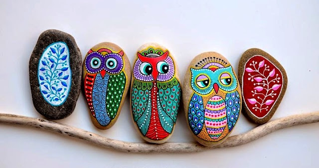 painted pebbles design ideas