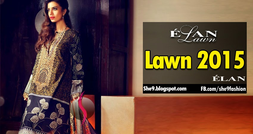 Lawn Collection 2015 by Elan with prices