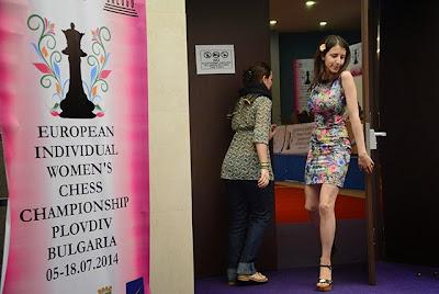 La joueuse d'échecs Bulgare Iva Videnova à Plovdiv - Photo © Boyan Botev