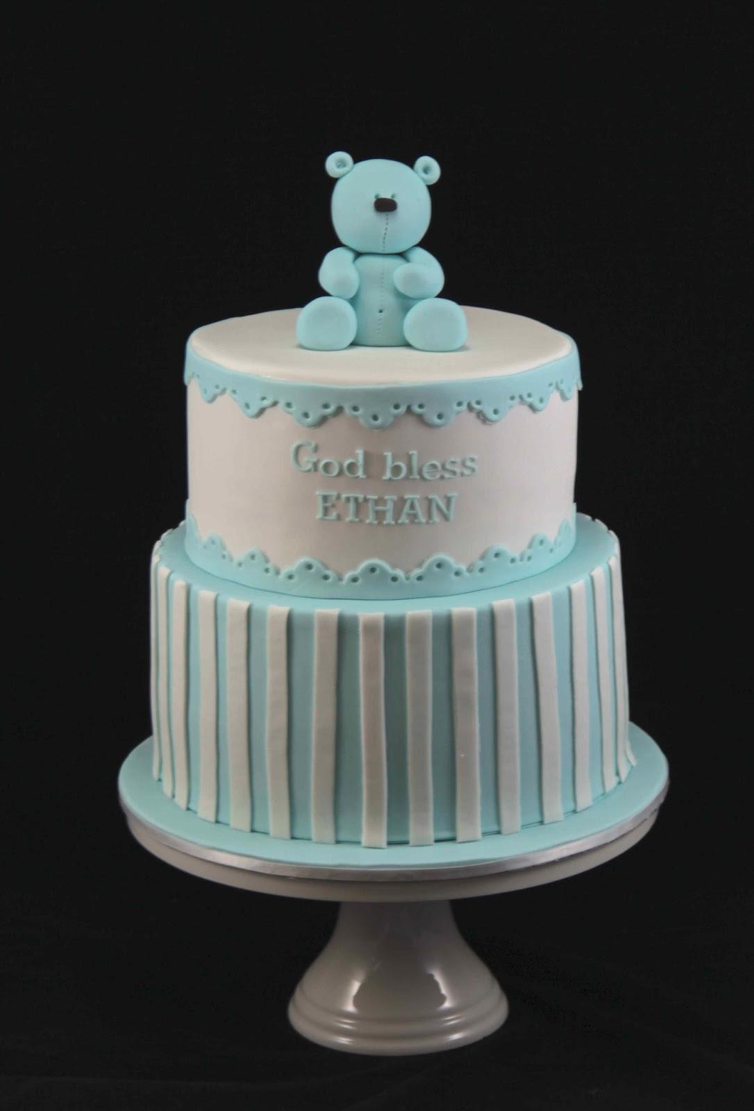 Bakerz Dad Baptism Bear Cake