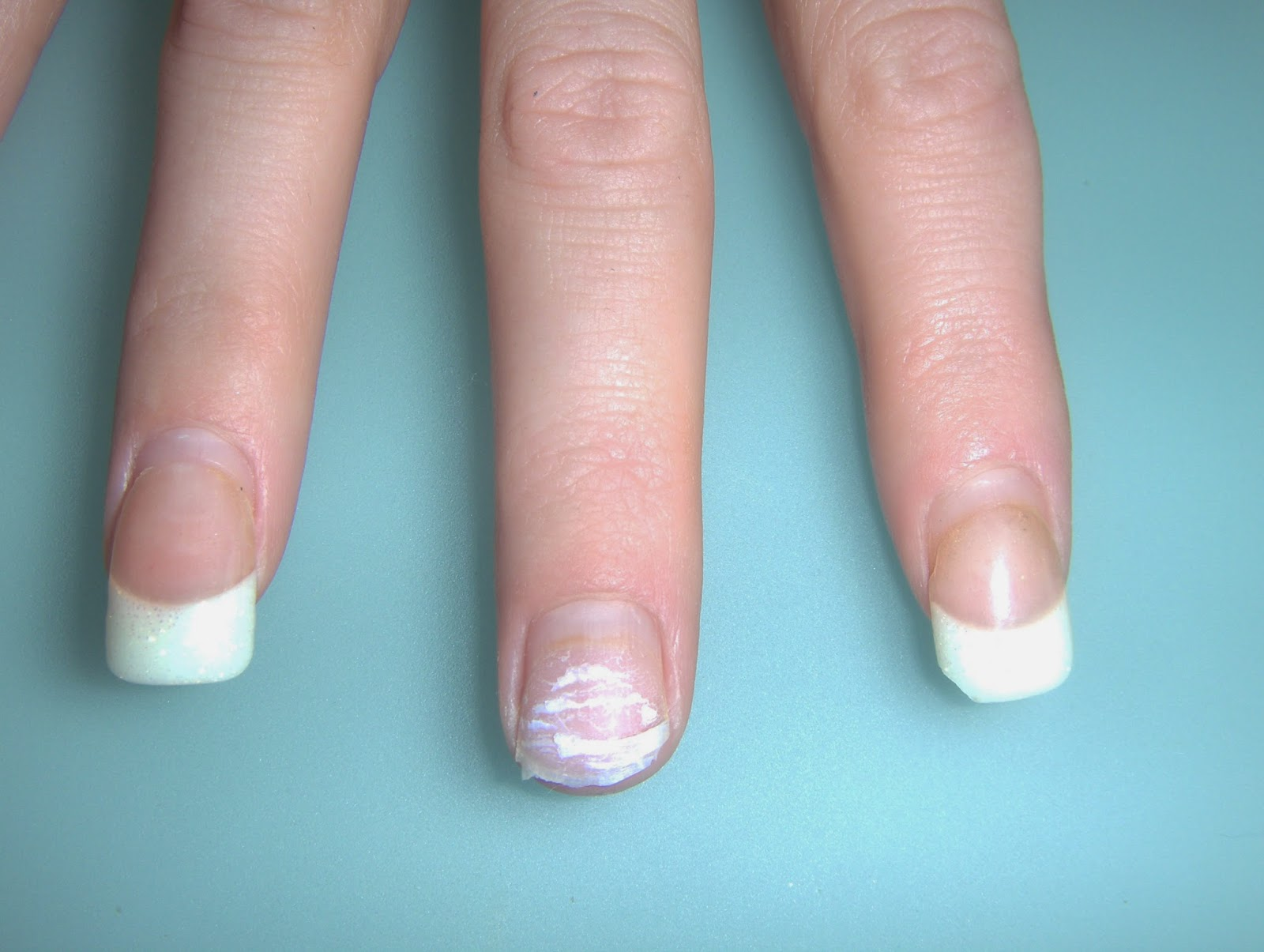 how to cut acrylic nails without cracking