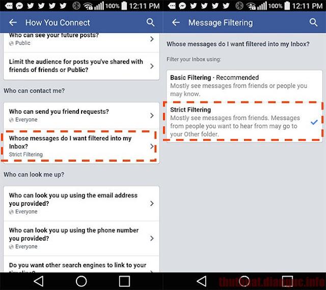 Cách ngăn chặn tin nhắn rác quảng cáo trên Facebook