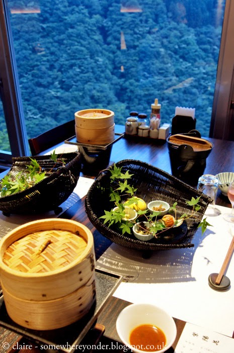 dinner with a view - Iya Onsen