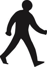 Silueta de peatón en actitud de caminar