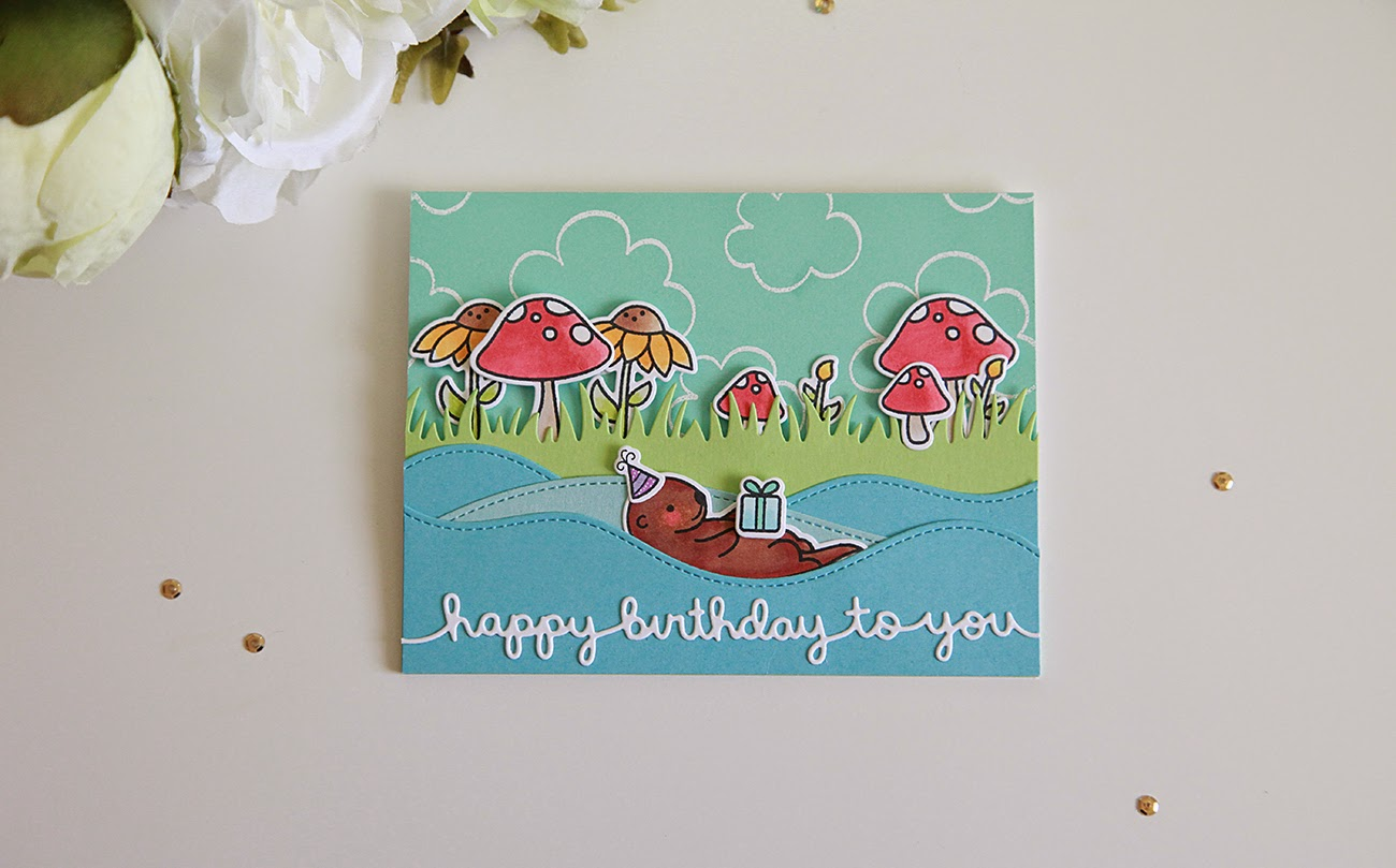 Lawn Fawn Inspiration Week--Year Five, Happy Birthday Border Die