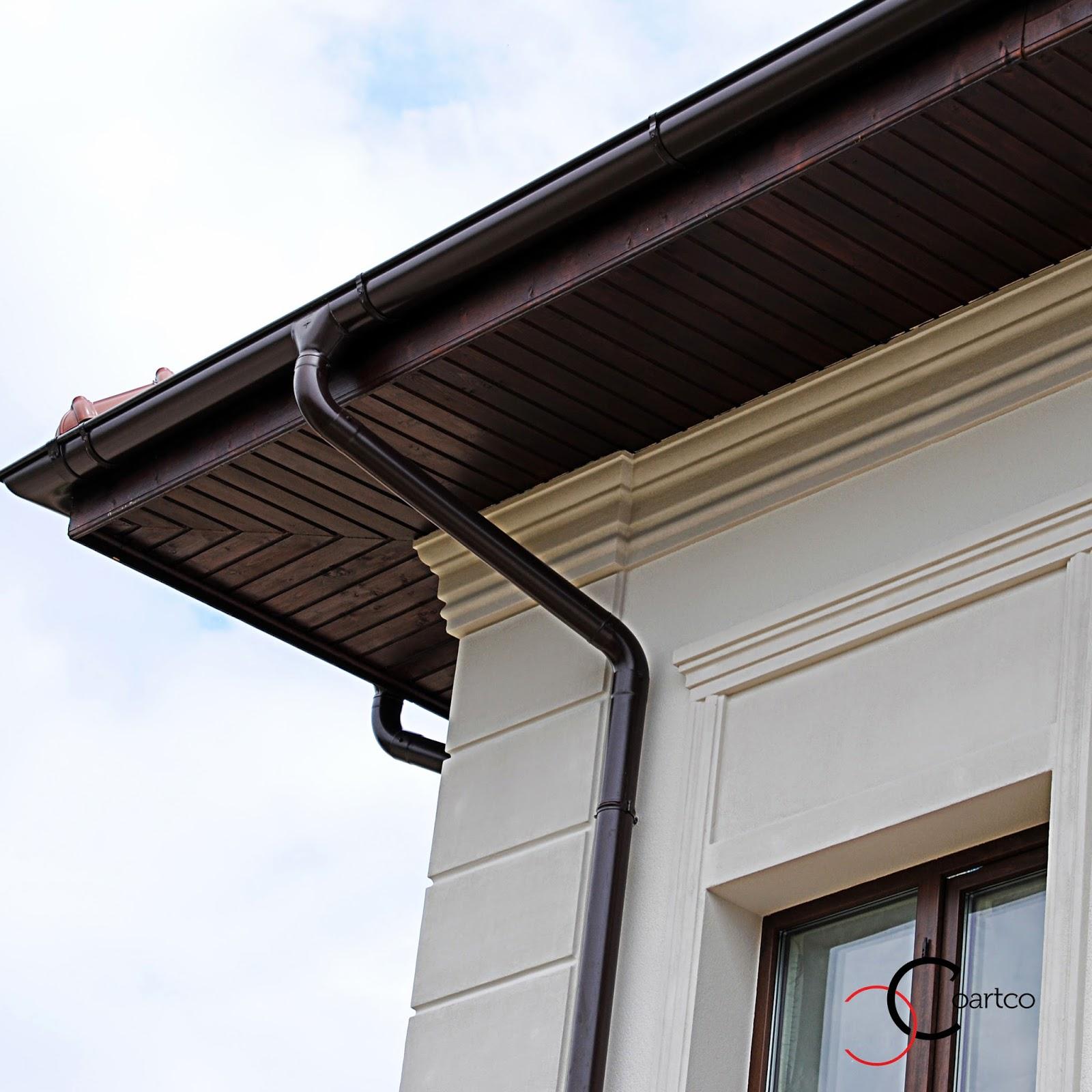 cornisa si colt decorativ din polistiren fatade case