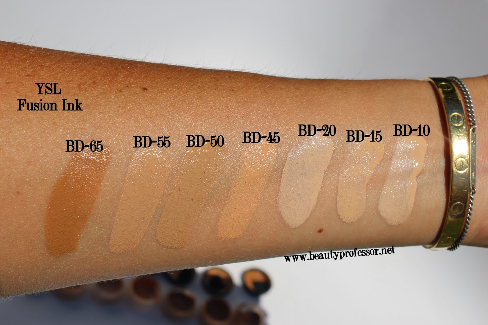 ysl fusion ink swatches