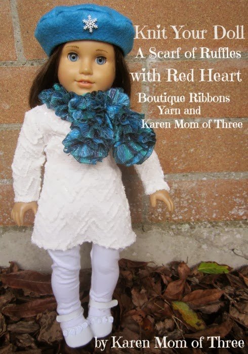 Karen Mom Of Threes Craft Blog Knit Your Dolls A Scarf Of Ruffles