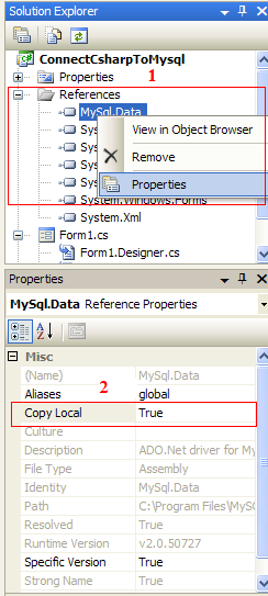 how to connect mysql database in c language
